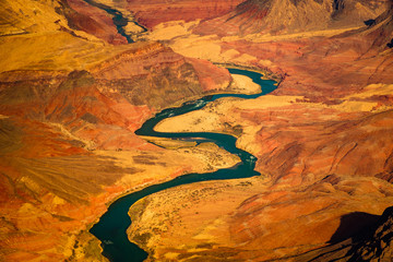 Printed roller blinds Canyon Beautiful landscape view of curved colorado river in Grand canyon