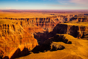 Aerial landscape view of Grand canyon, Arizona