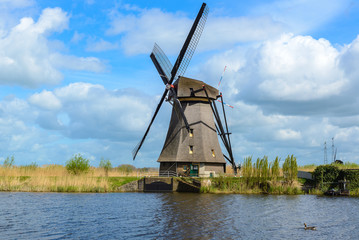 Dutch mill in Kinderdijk, South Holland