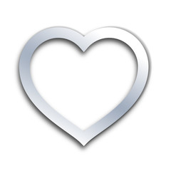 Perfect Heart Outline Vector