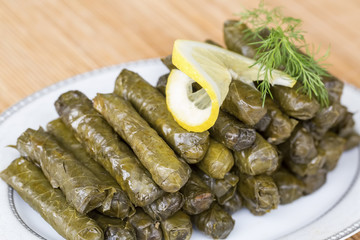 Turkish foods; stuffed leaves (yaprak sarmasi)