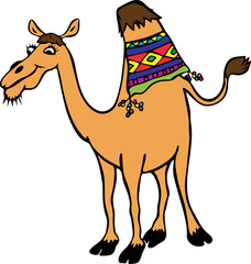 yellow funny camel with one hump