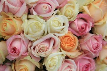 Mixed rose bridal bouquet