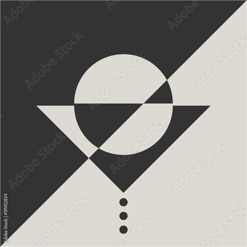 Geometric Minimalistic Suprematism Art Movement Styled Illustration