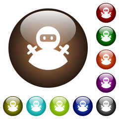 Ninja avatar color glass buttons
