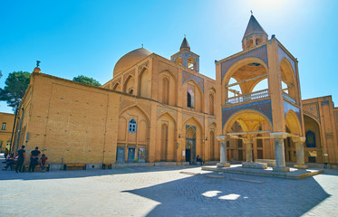 Panorama of Holy Savior Cathedral in Isfahan, Iran
