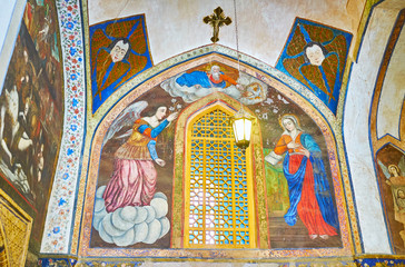 Frescoes of Vank Cathedral, Isfahan, Iran