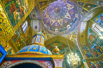 The ceiling of Vank Cathedral, Isfahan, Iran