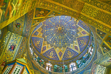 The stellar pattern of the dome in Vank Cathedral, Isfahan, Iran