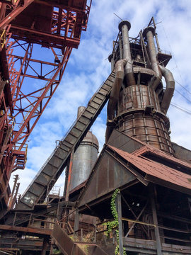Conveyors at the Abandoned Historic Carrie Blast Furnace, Part of Carnegie's Pittsburgh Steel Mills