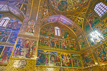 The medieval art in Vank Cathedral, Isfahan, Iran