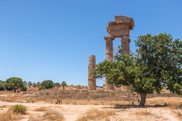 The ruins of the Acropolis in Rhodes, Greece