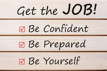 Get the Job Concept