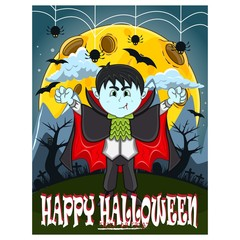 Vampire For Happy Halloween with background