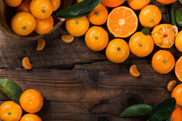 Delicious and beautiful mini Tangerines