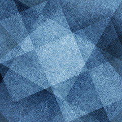 abstract blue background white striped pattern of layers of diamond squares and blocks in diagonal lines with vintage blue light and dark texture