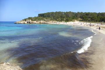 Cala Mondragon en Mallorca, Islas Baleares (España)