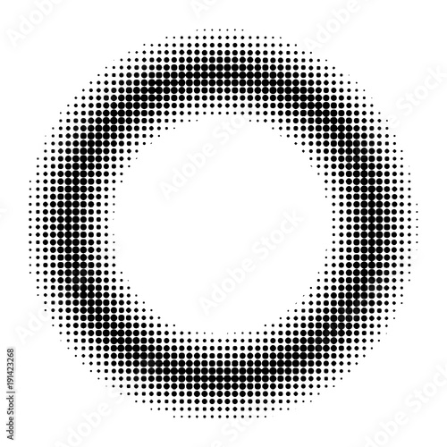 Circle Donut Halftone Effect Vector Comic Book Manga Anime