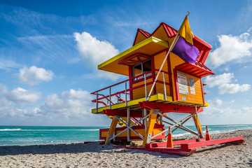 Miami Beach Lifeguard Stand in the Florida sunshine