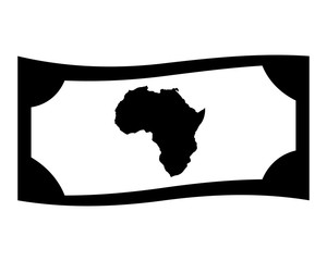 africa money image vector icon