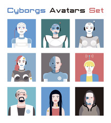 Cyborgs Avatars Set