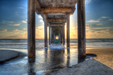 Scripps Pier Sunset in La Jolla - San Diego, California