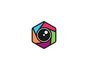 camera icon logo template