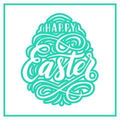 Happy Easter lettering for greeting card