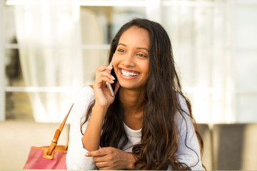 Young woman on her mobile phone.