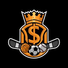 Sport betting gamble logo