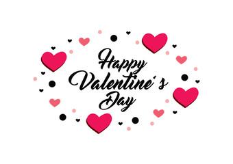 Happy Valentine's day greeting card.