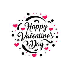 Happy Valentine's Day text design.