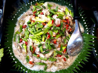 Filipino dish called Bicol Express