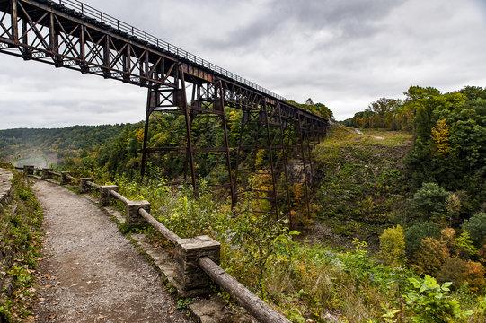 Historic Portage Railroad Bridge - Letchworth State Park - Livingston & Wyoming County, New York