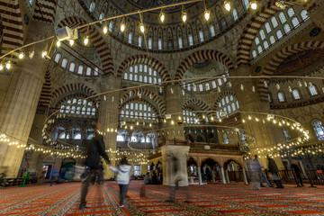 Keuken foto achterwand Theater Interior view of Selimiye Mosque in Edirne, Turkey