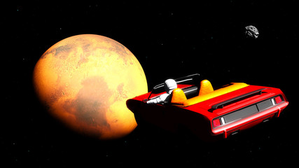 The car in space