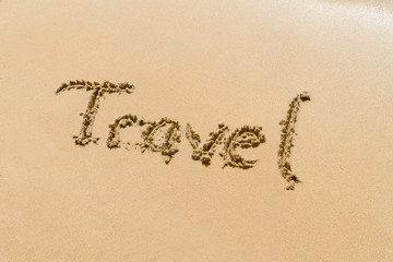 Word of Travel on Sand