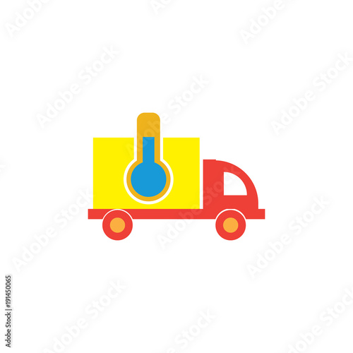 Lab Delivery Logo Icon Design Stock Image And Royalty Free