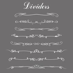 Set of dividers,border lines or divider lines,
