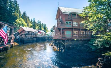old historic town of ketchikan alaska downtown