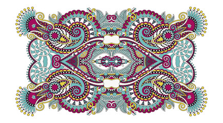 indian ethnic floral paisley pattern