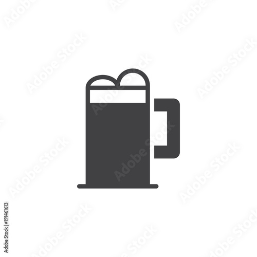 Beer Glass Icon Vector Filled Flat Sign Solid Pictogram Isolated