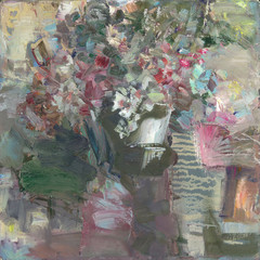 morning still-life with flowers
