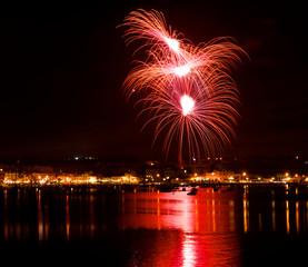 Fireworks over town, Birzebbuga, Malta