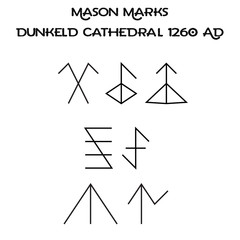 Mason Marks Carved Into Dunkeld Cathedral - Sacred Symbols - Scotland