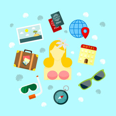 Fun Holiday Travel Vector Illustration
