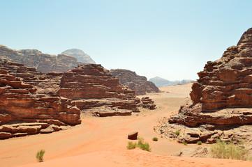 Desert in Wadi Rum Jordan