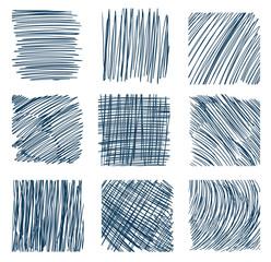 Stroke lines by a pen.