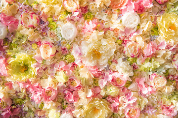 beautiful floral background with tender elegant flowers