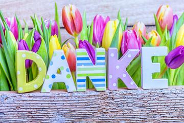 danke Karte Blumen